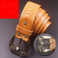 Handmade Genuine Custom Cool Leather Mens Leather Men Camel Belt for Men