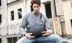 Black Brown Cool Leather Mens Shoulder Bags Messenger Bags for Men
