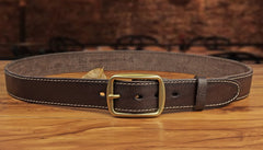 Genuine Leather Mens Leather Men Brown Black Belt for Men Cool Leather Belt