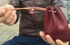 Handmade Leather Mens Women Key Cool Change Wallet Coin Pouch for Men