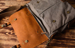 Canvas Mens Cool Messenger Bag iPad Bag Chest Bag Bike Bag Cycling Bag for men