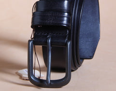 Handmade Genuine Leather Punk Rock Biker Trucker Mens Belt Men Black Coffee Belt for Men