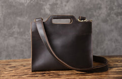 Genuine Leather Mens Cool Clutch Wristlet Bag Briefcase Work Bag Business Bag for men