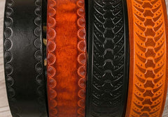 Handmade Genuine Leather Custom Tooled Biker Cool Mens Leather Men Belt for Men