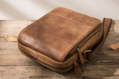 Cool Mens Small Leather Brown Bag Messenger Bags Shoulder Bags  for Men
