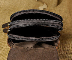 Small Mens Leather Belt Pouch Holster Belt Cases Cell Phone Waist Pouch for Men
