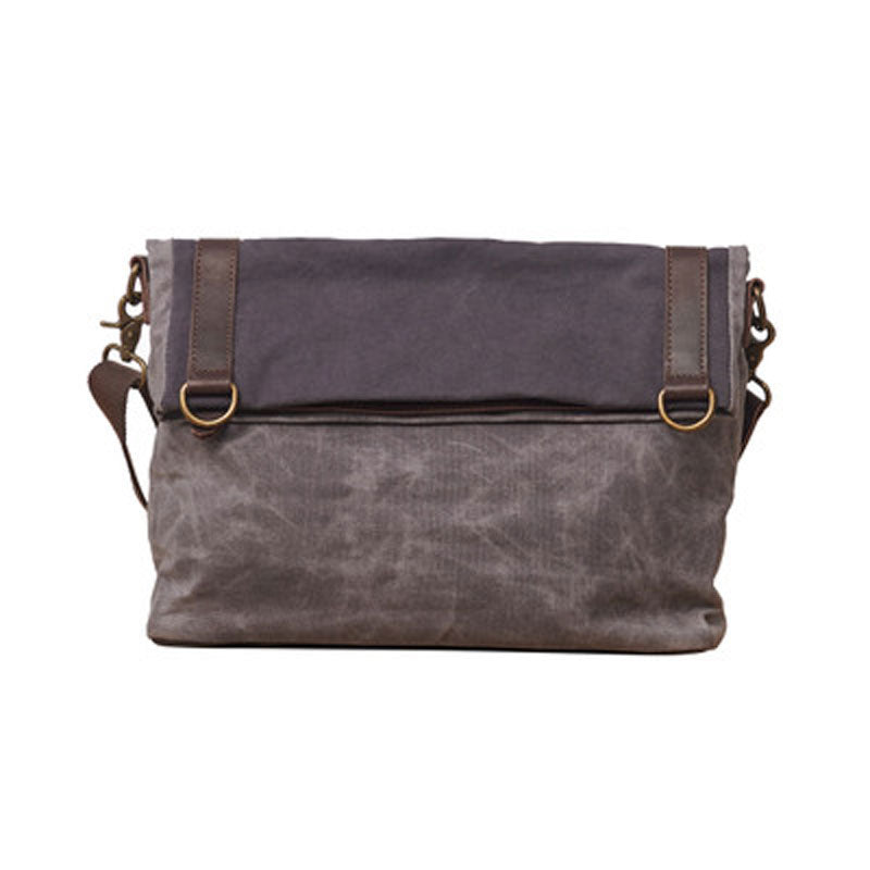 1ee2156f78 Mens Canvas Gray Cool Courier bag Messenger Bag Canvas Side Bag for Me –  iwalletsmen