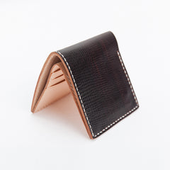 Handmade Dark Brown Leather Mens billfold Wallet Bifold Front Pocket Small Wallet For Men
