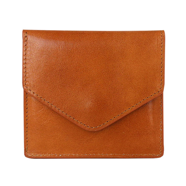 Cool Leather Mens Slim Card Wallet Front Pocket Wallets Small Change Wallet for Men