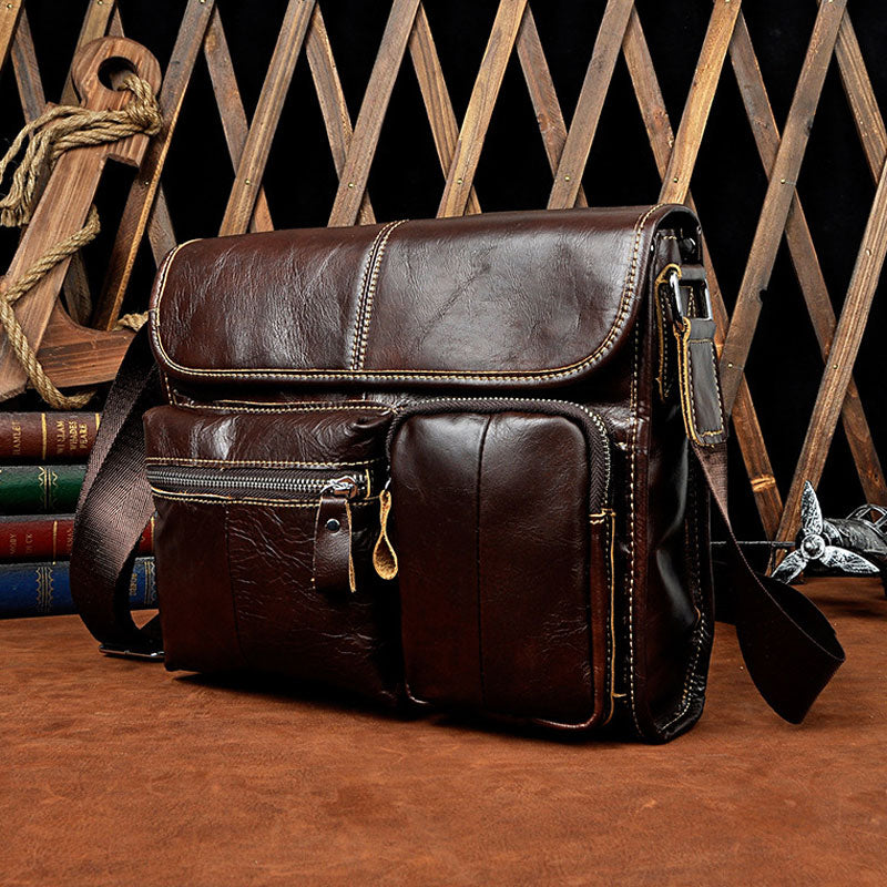 3e308d64e18f Next.  99.00 99.00. Overview  Design  Cool Coffee Small Leather Mens Side  Bag Messenger Bag Shoulder Bag for Men