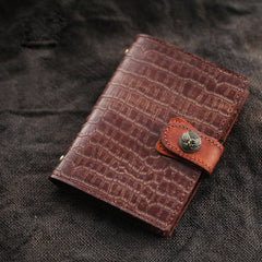 Brown Handmade Leather A7 Journal Travel Notepad Brown Notebook For Men