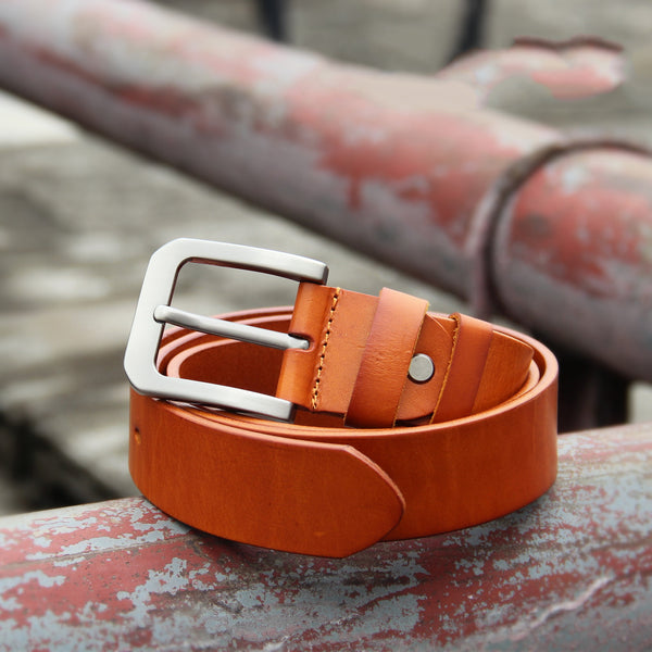 Cool Handmade Buckle Black Leather Mens Belt Maroon Tan Leather Belts for Men