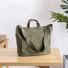 Casual Canvas Womens Mens Large Green Handbag Tote Bag Green Shoulder Bag Tote Purse For Men