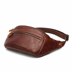Brown LEATHER MENS FANNY PACK FOR MEN BUMBAG Black WAIST BAGS FOR MEN