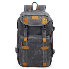 Brown CANVAS WATERPROOF MENS 15'' CANON CAMERA BACKPACK LARGE NIKON CAMERA BAG DSLR CAMERA BAG FOR MEN