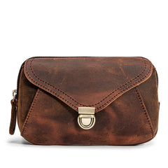 Classy Brown Leather Mens Work Clutch Bag Wirstlet Clutch Mobile Phone Bag For Men