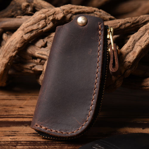 Handmade Leather Mens Cool Car Key Wallet Car Key Holder Car Key Case for Men