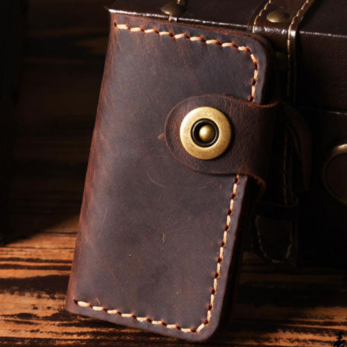 Handmade Leather Mens Cool Key Wallet Key Holder Car Key Case for Men