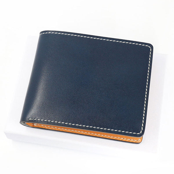 Leather Mens Small Wallet Slim Wallet Front Pocket Wallet Card Wallet for Men