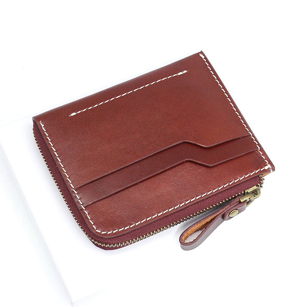 Leather Mens Front Pocket Wallets Small Slim Wallet Card Wallet Change Wallet for Men