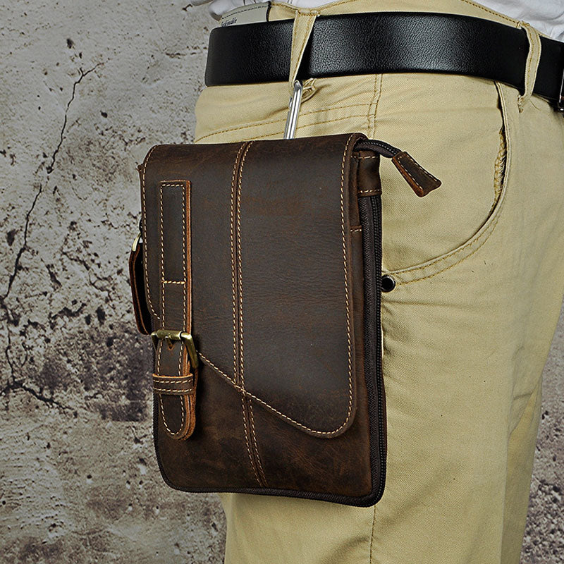 bc5905aa73e4 Next.  69.00 69.00. Overview  Design  Mens Leather Small COURIER BAG Side  Bag Waist Pouch Holster Belt ...