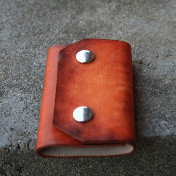 Handmade Mens Leather Key Holder Key Wallet Small Key Wallet for Men