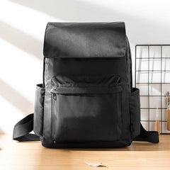 Fashion Black Mens Nylon Backpack Travel Backpacks 15'' Laptop Backpack College Bag for men