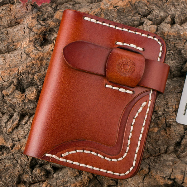 Handmade Mens Cool billfold Card Holders Card Case Small Card Slim Wallets for Men