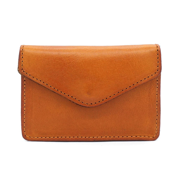 Leather Mens Envelope Front Pocket Wallet Card Wallet Cool Small Change Wallet for Men