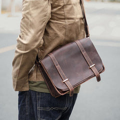Cool Brown Leather Mens Casual 10