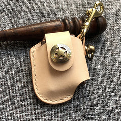 Handmade Mens Beige Leather Classic Zippo Lighter Case  Zippo Lighter Holder with Belt Clip