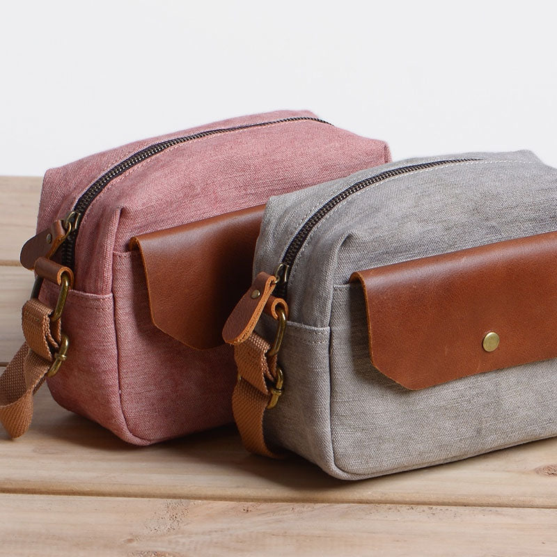 d1c30572d5 Next.  59.00 59.00. Overview:. Design  Cool Mens Canvas Leather Side Bag  Gray Courier Bag Messenger Bag ...