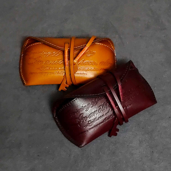 Handmade Vintage LEATHER MEN'S Womens Sunglasses Box Case Yellow Brown Glasses Holder For Men