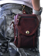 Cool Leather Belt Pouch for Men CELL PHONE HOLSTER Waist Bags BELT BAG For Men