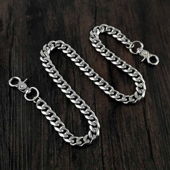16'' SOLID STAINLESS STEEL BIKER SILVER WALLET CHAIN LONG PANTS CHAIN JEAN CHAIN FOR MEN