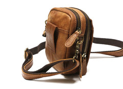 Cool Leather Belt Pouch Mens Waist Bag Shoulder Bag for Men