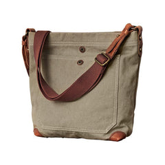 Cool Canvas Mens Womens Green Side Bag 12 inches Canvas Messenger Bags Courier Bag for Men Women