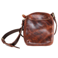 Black Leather Mens Casual Mini Phone Bags Messenger Bags Amber Postman Bag For Men