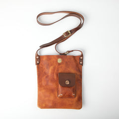 Vintage Tan Handmade LEATHER MEN'S Side BAG Courier Bag MESSENGER BAG Black Leather Postman BAG FOR MEN