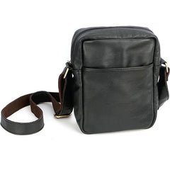Brown Leather Mens CasualSmall Vertical Courier Bag Messenger Bags Black Postman Bag For Men