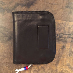 Genuine Leather Mens Cool Short Long Leather Wallet Men Small Wallets Bifold for Men