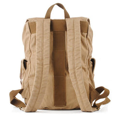 Army Green CANVAS Mens Large 16'' Fashion Khaki Travel Backpack College Backpack Hiking Backpack For Men