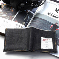 Cool Denim Mens Jean billfold Small Wallets Bifold Multi Small Wallets For Men
