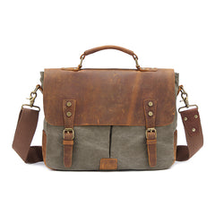 Canvas Leather Mens 14