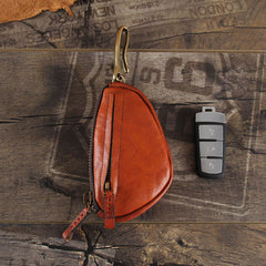 Genuine Leather Mens Cool Key Wallet Car Key Change Coin Holder Car Key Case for Men