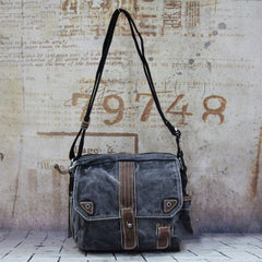 Fashion Canvas Black Mens Small Postman Bag Canvas Messenger Bags Courier Bag For Men