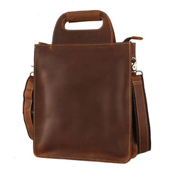 Vintage Leather Mens Briefcase Work Handbags Shoulder Bags Work Bag For Men