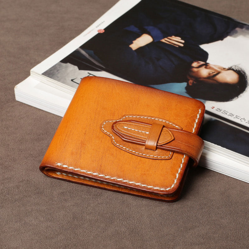 handmade leather mens cool slim leather wallet card wallet