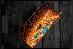 Handmade Leather Ucchusma Mens Chain Biker Wallet Cool Leather Wallet With Chain Wallets for Men
