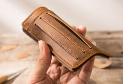 Leather Mens Slim Cards Holder Front Pocket Wallets Card Wallet for Men